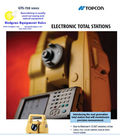 Topcon GTS-720 Total Station Brochure | Documents and Forms | Building and Construction
