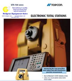 topcon gts-720 total station brochure