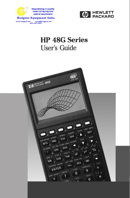 hp 48g series user guide documents and forms manuals rh store payloadz com HP 48 hp 48g advanced user's reference manual