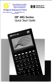 hp 48g quick start guide