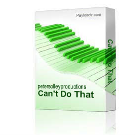 Can't Do That | Music | Backing tracks