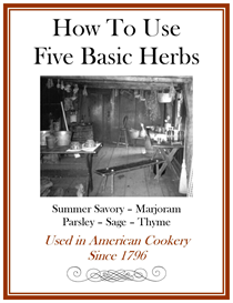 How To Use Five Basic Herbs Since 1796 | eBooks | Food and Cooking