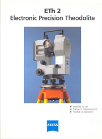 Zeiss ETh2 Electronic Precision Theodolite Brochure | Documents and Forms | Building and Construction