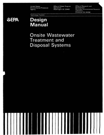 us epa onsite wastewater treatment & disposal  systems design manual 10/1980 411 pp