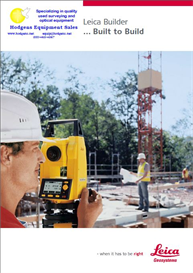 leica builder series electronic theodolite brochure 6 pages