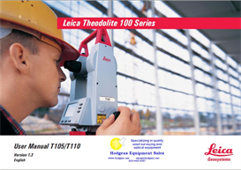 leica theodolite 100 series user manual & quick start - 68 pages