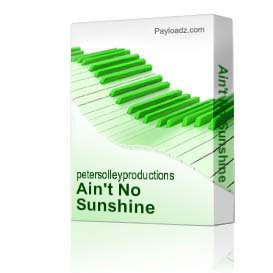 Ain't No Sunshine   Music   Backing tracks