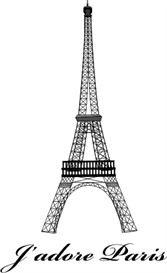 j'adore paris - 3 sizes - machine embroidery file