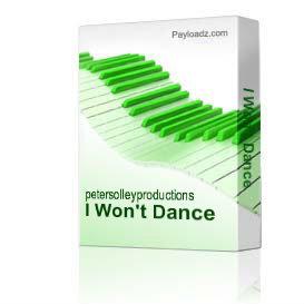 I Won't Dance | Music | Backing tracks