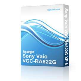 sony vaio vgc-ra822g xp mce drivers restore disk recovery cd driver download exe