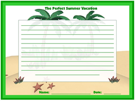 the perfect summer vacation stationary set