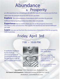 abundance and prosperity workshop