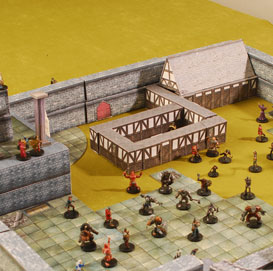 3d dungeons and dragons tiles - master town set