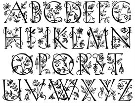 garden caps alphabet