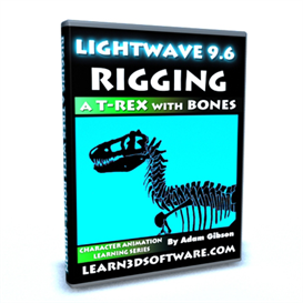 lightwave 3d 9.6 rigging a t-rex with bones