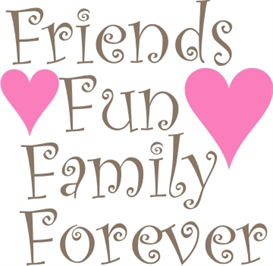 friends,fun,family,forever machine embroidery file & cricut