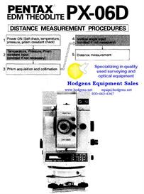 pentax px-06d edm theodolite distance measurement procedure