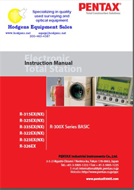 pentax r-300 x  basic instruction manual