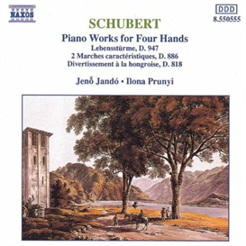 schubert piano works for four hands (1992) (naxos records) (germany) (6 tracks) 320 kbps mp3 album