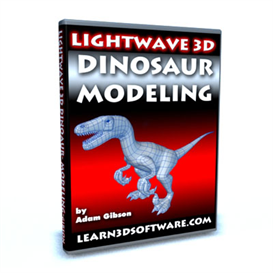 lightwave 3d dinosaur modeling