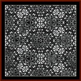fractal 292 cross stitch pattern by cross stitch collectibles