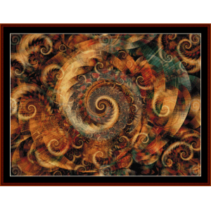 fractal 301 cross stitch pattern by cross stitch collectibles