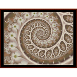 fractal 306 cross stitch pattern by cross stitch collectibles