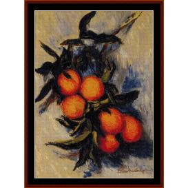 orange branch - monet cross stitch pattern by cross stitch collectibles