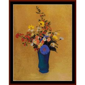 bouquet of wildflowers - redon cross stitch pattern by cross stitch collectibles