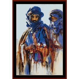 bedouins- sargent cross stitch pattern by cross stitch collectibles