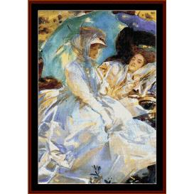 simplon pass - sargent cross stitch pattern by cross stitch collectibles
