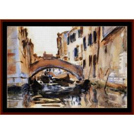venetian canal - sargent cross stitch pattern by cross stitch collectibles