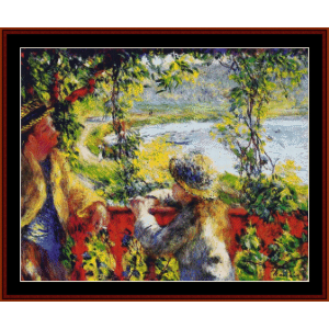 by the lake - renoir cross stitch pattern by cross stitch collectibles
