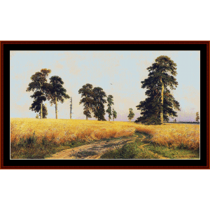 rye field - shishkin cross stitch pattern by cross stitch collectibles