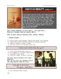 american beauty, whole-movie english (esl) lesson
