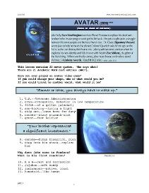 avatar, whole-movie english (esl) lesson