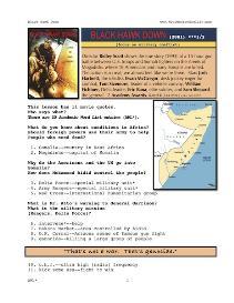 BLACKHAWK DOWN, Whole-Movie English (ESL) Lesson | eBooks | Education