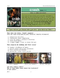 crash,  whole-movie english (esl) lesson