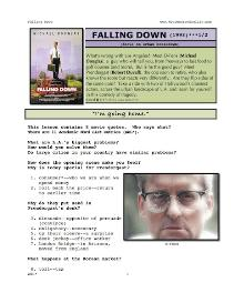 falling down,  whole-movie english (esl) lesson