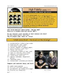 HIGH FIDELITY,  Whole-Movie English (ESL) Lesson | eBooks | Education