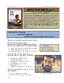 INTO THE WILD, Whole-Movie English (ESL) Lesson | eBooks | Education