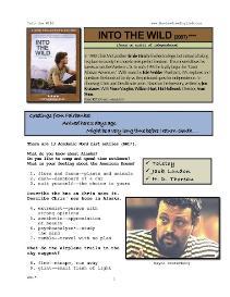 into the wild, whole-movie english (esl) lesson