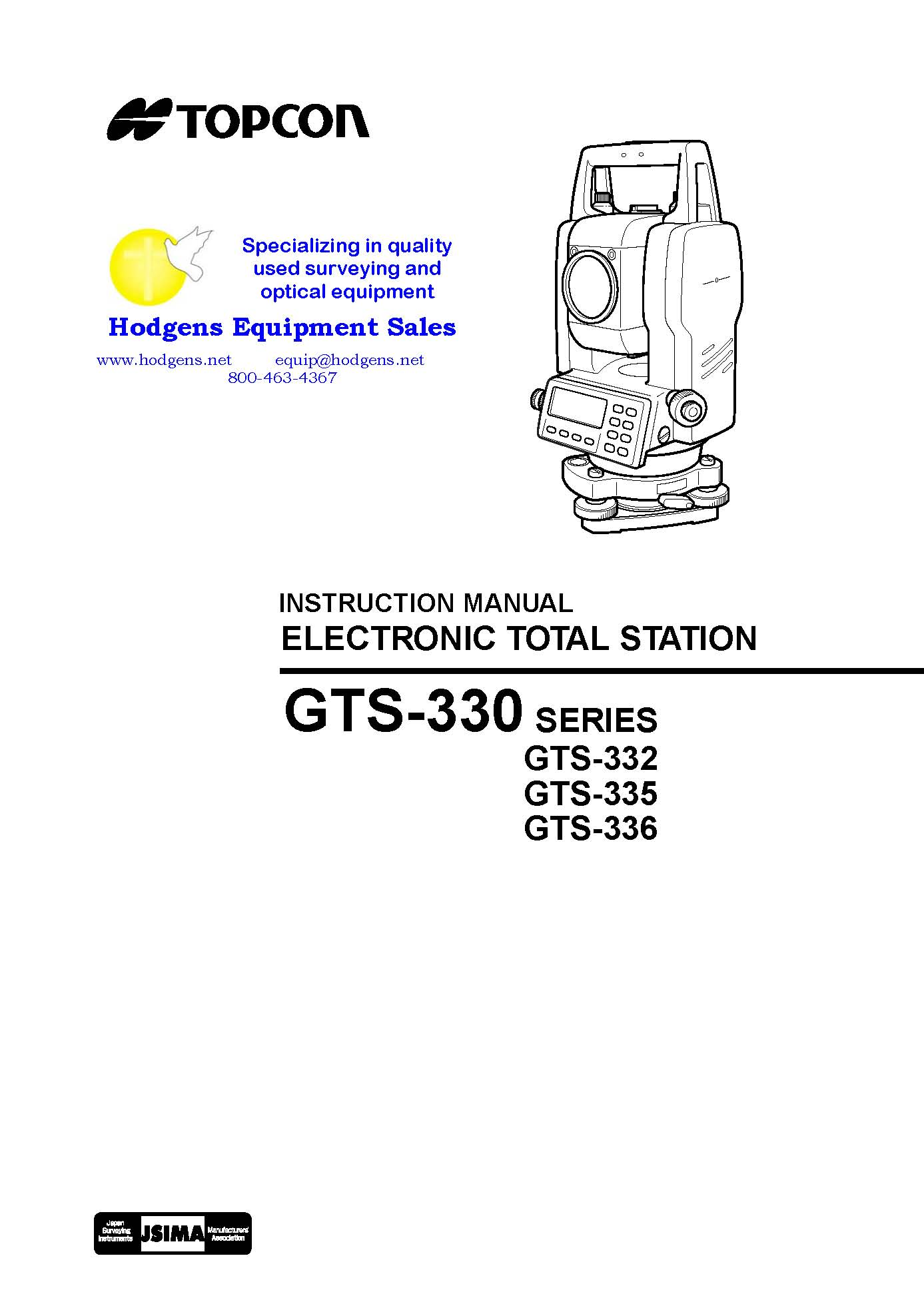 topcon gts 330 series geodetic total station instruction manual documents  and forms manuals ...