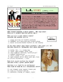 l.a. story, whole-movie english (esl) lesson