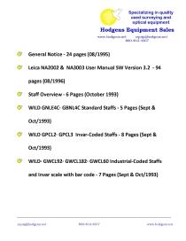 leica na 2002 & na3003 user manual, wild staffs