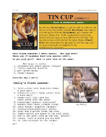 TIN CUP, Whole-Movie English (ESL) Lesson | eBooks | Education