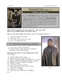 training day, whole-movie english (esl) lesson