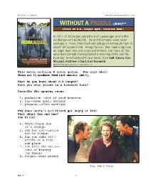 without a paddle, whole-movie english (esl) lesson