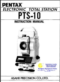Pentax Total Station PTS-10 Instruction Manual | Documents and Forms | Manuals