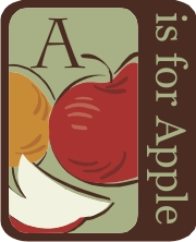 a is for apple - machine embroidery file